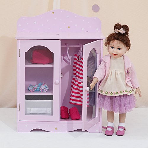 Olivia's Little World- Armadi per Bambole, Colore Viola/Oro, TD-0210AP