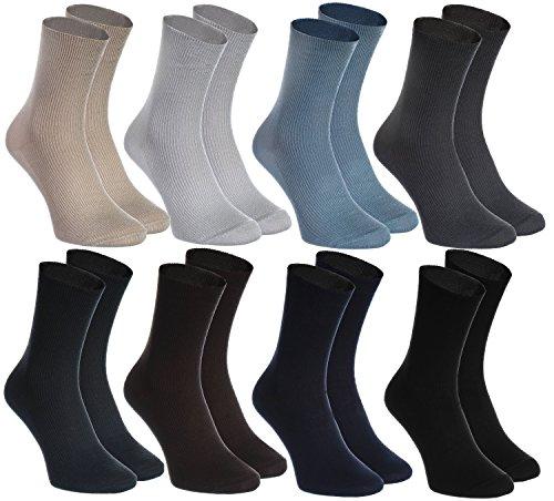 Rainbow Socks - Hombre Mujer Calcetines Diabéticos Sin Elas