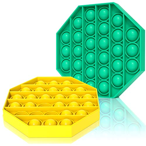 Push pop pop Bbbule Sensory Fidget Toy,2 Pack Silicone...