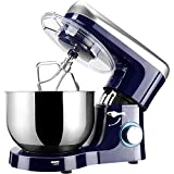 Elegant Life Stand Mixer, 6 QT 660W 6-Speed Tilt-Head Food Mixer, Kitchen Electric Mixer with Dough Hook, Wire Whip & Beater