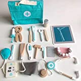 XXXVV Juguetes de Médicos 18PCS Doctora Juguetes Maletin Medicos Juguete, Enfermera Disfraz Cosplay de Médico, Regalos para Niños,Azul