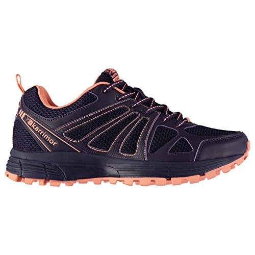 Karrimor Womens Caracal Trail Running Shoes Runners Lace Up Breathable Padded Purple/Coral UK 6 (39)