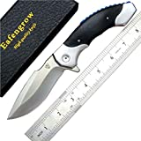 Eafengrow EF15 Folding Blade Knives 7.9 inch 9Cr18Mov Blade and G10 Handle Outdoor Camping Knife