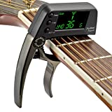 Accordeur de guitare 2 en 1 Accordeur de guitare professionnel Capo avec...
