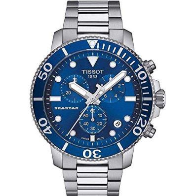 Tissot Men's Seastar 660/1000 Swiss Quartz Stainless Steel Strap, Grey, 22 Casual Watch (Model: T1204171104100)