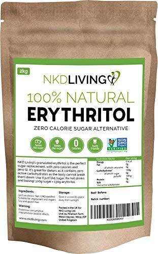 Eritritolo 100% naturale 2 Kg   Sostituto dello zucchero a ZERO Calorie