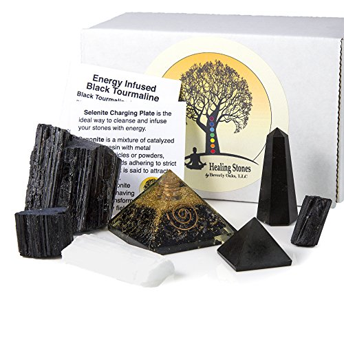 Beverly Oaks Charged Black Tourmaline Crystal Complete Kit -...