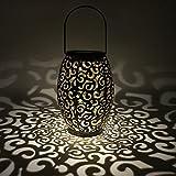 LEDMOMO Lanterne solaire de LED accrochant la silhouette marocaine Lumières solaires bon augure de...