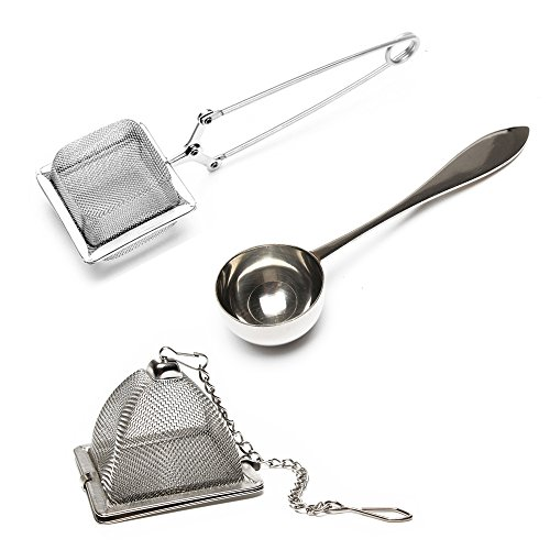 VAHDAM, Juego de 2 infusor de te y 1 cucharada de té   100% acero inoxidable   infusionador-...