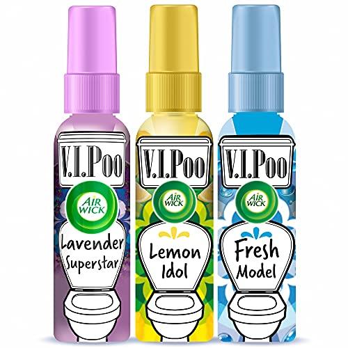 Air Wick VIPoo Spray ambientador para el WC, antes de ir al baño, aroma Frutas del Bosque...