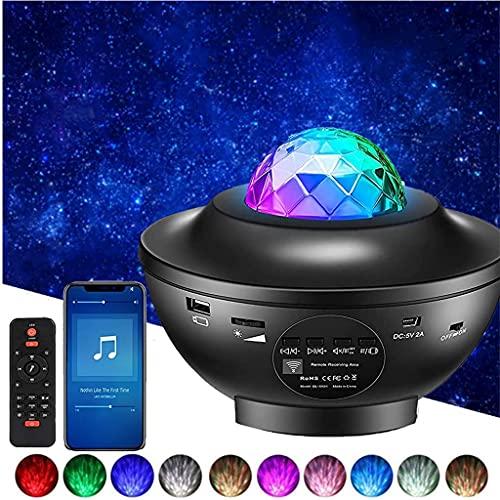 YunLone Proiettore a Luce Stellare Altoparlante Bluetooth Lampada musicale con telecomando, 21 modalit Colore Rotante Nebulosa Dimmerabili Galassia Luce