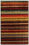 Mohawk Home New Wave Boho Striped Printed Area Rug, 7'6x10', Rainbow
