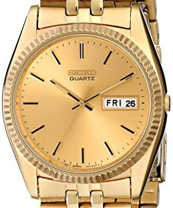 Seiko Men's SGF206 Gold-Tone Stainless Steel Dress Watch 24