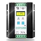 SolaMr 1000W MPPT Wind Solar Hybrid Charge Controller Wind Boost Charge Solar PWM Charging Technology Digital Intelligent Regulator with LCD Display