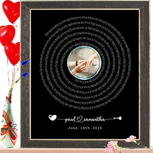 Personalized Song poster Wall Art - Personalized Wedding...