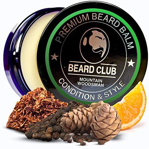 Balsamo per barba premium | Mountain Woodsman (Montagna Tagliaboschi) | Il miglior balsamo e emolliente per barba | 100% Naturale & Organico | Ottimo per la cura dei capelli e la crescita