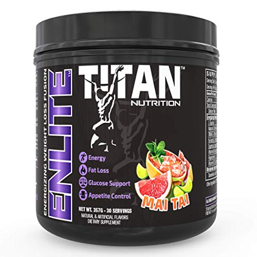 ENLITE Powdered Weight Loss Formula- Increase Fat Burning, Boost Energy and Reduce Appetite |Green Tea, Yohimbine, and Natural Caffeine| for Men and Women| (Mai Tai) 1