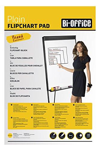 Bi-Office Blocco Per Lavagna Di Carta Euro, Bianca, 20 Fogli Per Blocco, Lato Superiore Perforato,...