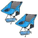 Chaise de Camping Pliante, Légère et Portable Chaise Pliante Camping Lot de 2, Charge Maximale 150 kg, avec Sac de Transport pour l'extérieur, Plage, Pêche, Pique-Nique