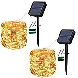 [Lot de 2] Guirlande Lumineuse Solaire Extérieur, 120 LED Guinguette...