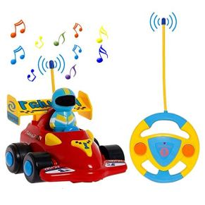 PowerLead Remote Control Car Kids Gift, RC Car with Music Cartoon, Remote Control Cars for Toddlers and Kids Toy Car for…