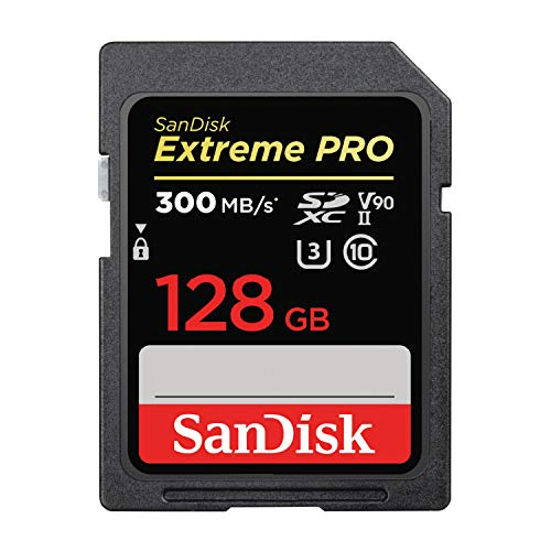 【 サンディスク 正規品 】 SDカード 128GB SDXC Class10 UHS-II V90 読取最大300MB/s SanDisk Extreme PRO SDSDXDK-128G-GHEIN エコパッケージ