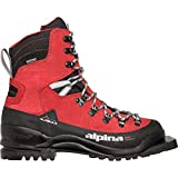 Alpina Sports Alaska 75 Leather 3 Pin 75 mm Backcountry Cross Country Nordic Ski Boots, Red/Black, Euro 44