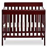Dream On Me Aden 4-in-1 Convertible Mini Crib, Cherry