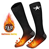 EEIEER Chaussettes Chauffantes Rechargeables, 3.7V 4000mAh 7.5-17 Heures...