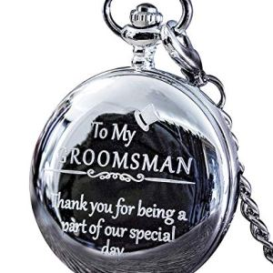 "Groomsmen Gifts for Wedding or Proposal – Engraved""to My Groomsman"" Pocket Watch – Luxury Wedding Gift"
