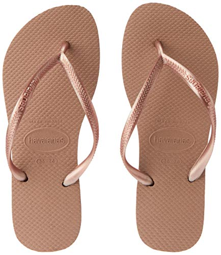Havaianas Slim 4000030 Infradito Donna, Marrone Rose Gold 3581, 37/38 EU