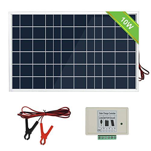ECO-WORTHY 12V 10W Kit panneau solaire: 1 pc 10W Module Solaire avec...