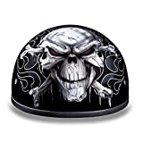 Daytona Helmets Motorcycle Half Helmet Skull Cap- Cross Bones 100% DOT Approved