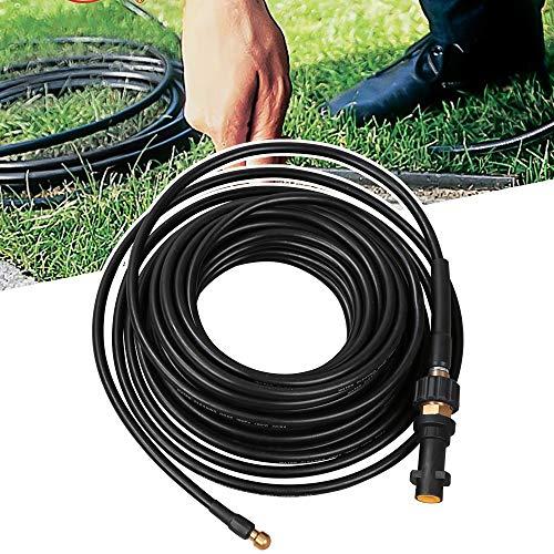 Vingo 15m Rohrreinigungsschlauch, Druck 180 bar 60°C geeignet für alle Hochdruckreiniger wie Kärcher Anschluss Bajonett