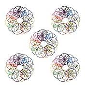 STOBOK 5 Sätze / 60 Blatt Montessori-Bruchkreise Frühe Mathematische Manipulationen Pädagogischer Unterricht Mathematikspielzeug