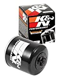 K&N Motorcycle Oil Filter: High Performance Black Oil Filter with 17mm nut designed to be used with synthetic or conventional oils fits Honda, Kawasaki, Triumph, Yamaha Motorcycles KN-204