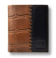 Premium finish - high quality craftsmanship with 100% pure croc leather that gives durability Elegant and classy - distinctive look with style with designer stitch Carry more - 2 spacious currency compartment, 5 card slots with 1 see through compartm...