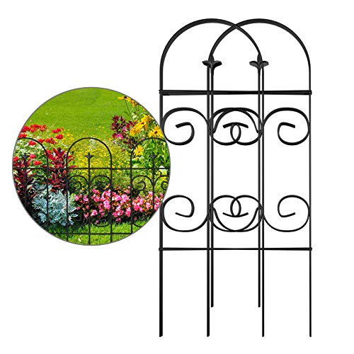 AMAGABELI GARDEN & HOME Decorative Garden Fence GFP006 32inx10ft...