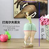 DAJIADS Figurine Figurines Statue Statues Statuette Sculptures Buddha Modern European Tattoo Beauty Sculpture Abstract Body Art Statue Plump Yoga Girl Figurine Mediterranean Ornaments Home Decoratio