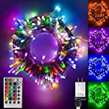 Color Changing led Christmas Lights, 200 LED 66ft Plug in Powered Multicolor Christmas Tree Lights...