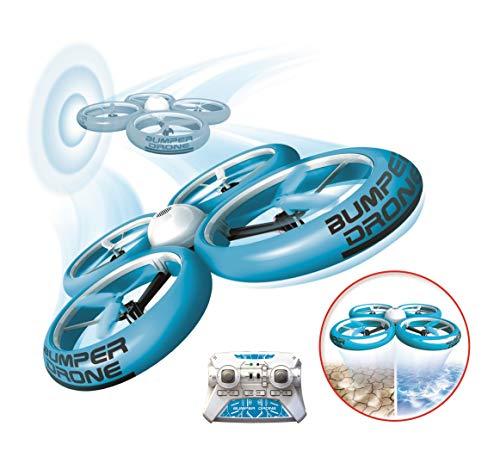 Flybotic by Silverlit  Bumper Drone antiurto 40 cm, modello casuale, blu o verde, per uso interno ed esterno
