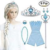 Vicloon 9pcs Upgrade Princesse Dress Up Accessoires pour Costume d'Elsa la...
