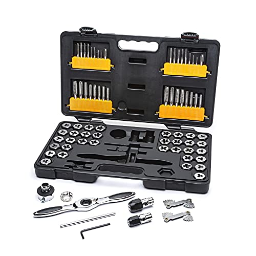 GEARWRENCH 75 Piece Ratcheting Tap and Die Set, SAE/Metric - 3887
