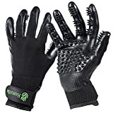 H HANDSON Pet Grooming Gloves - Patented #1 Ranked, Award Winning Shedding, Bathing, & Hair Remover Gloves - Gentle Brush for Cats, Dogs, and Horses