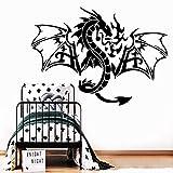 wZUN Pegatina de dragón de Moda, Papel Tapiz de Vinilo Impermeable, decoración del hogar, calcomanía de Pared, calcomanía artística 28X39cm