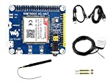 IBest 4G / 3G / 2G / GSM/GPRS/GNSS HAT for Raspberry Pi, Based on SIM7600E-H, Support LTE CAT4 for Downlink Data Transfer, 4G Connection, Making Call, Sending SMS, Global Positioning