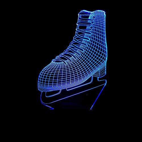BFMBCHDJ Cool Ice blade Shoes Lampada LED 3D Telecomando acrilico 7 colori che cambiano pattinaggio...