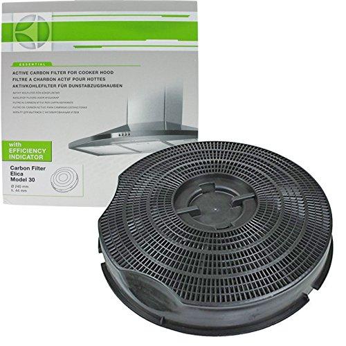 Filtro originale Philips Whirlpool AKG AKB AKR G2P tipo 30 carbone carbone cappa di ventilazione (235 mm x 46 mm)