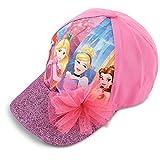 Disney Little Girls Princess Characters Cotton Baseball Cap, Pink, Age 4-7