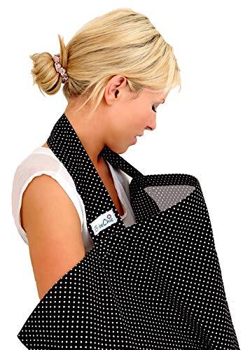 Photo de bebechic-qualite-superieure-100-coton-couverture-dallaitement-desossage-rigide-avec-sac-de-rangement-noire